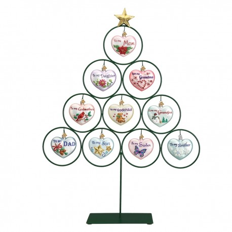 10-ORNAMENTS TREE STAND