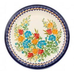 """Dinner Plate 10.8"""" Orange Roses"""