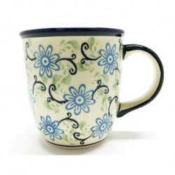 Mug - 12 oz - Blue/Green Swirls