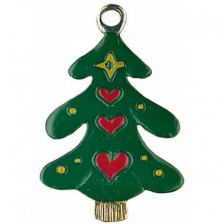 Tree with Heart Pewter Ornament