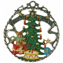 Frohes Fest Pewter Ornament
