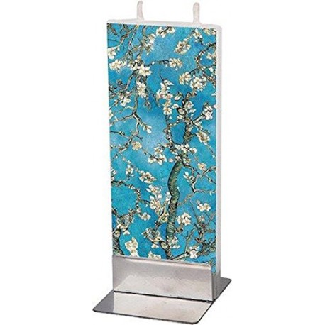 Flat Candle Almond Blossoms by Van Gogh