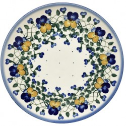 "Polish Pottery Plate - 10"" - Pansies"
