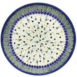 """Polish Pottery Plate - 10"""" - Spring Garden"""