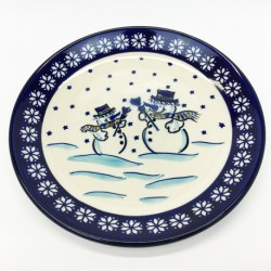 "Plate - 8"" - Snowmen"