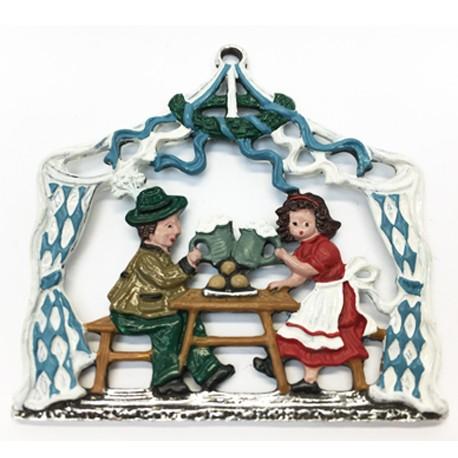 Biergarten Pewter Ornament