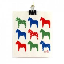 Swedish Dishcloth Dala Horses