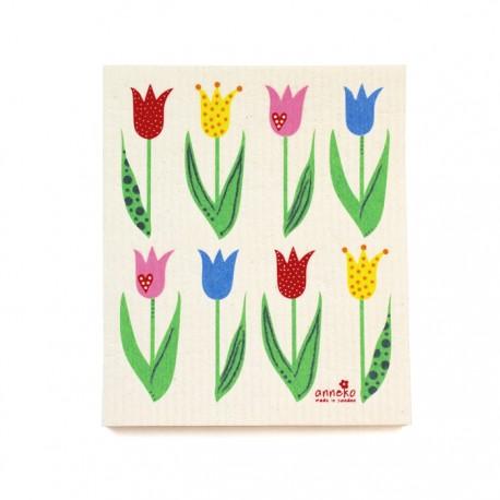Swedish Dishcloth Tulips