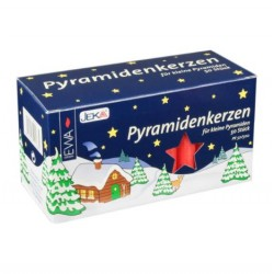 German Pyramid Candles Medium Red 14mm