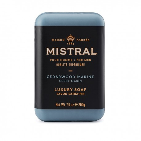Mistral Bar Soap, Cedarwood Marine