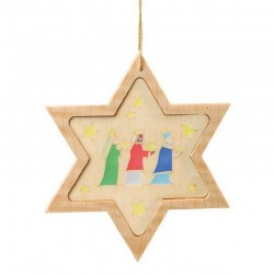 Three Kings Star Wooden Ornament