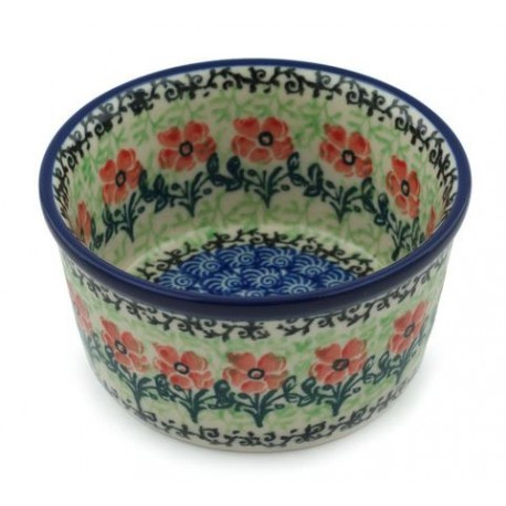 """Polish Pottery Bowl - 4"""" - Maraschino"""