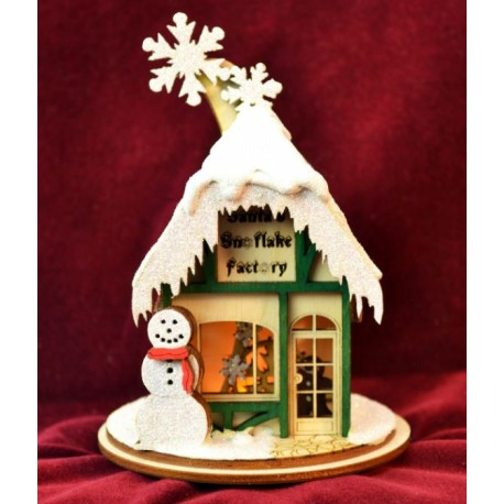 Ginger Cottage - Santa's Snowflake Factory