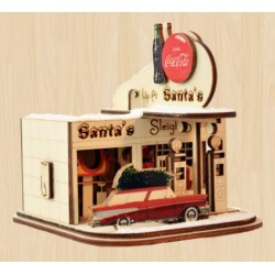 Ginger Cottage - Coca-Cola Santa's Sleigh Gas Station