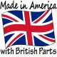 """""""Made in America with ___ Parts"""" T-Shirt"""