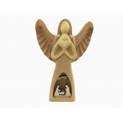 Wooden Angel with Nativity