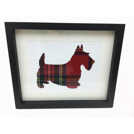 Framed Scottie Dog