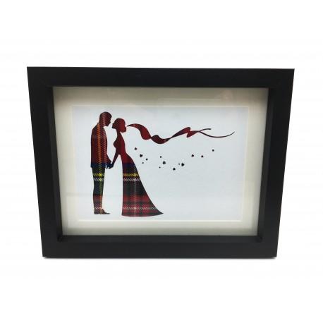 Framed Tartan Bride and Groom