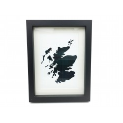 Framed Tartan Map of Scotland