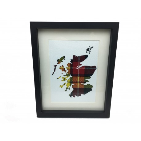 Framed Map of Scotland