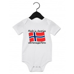 """Made in America with ___ Parts"" Onesie"