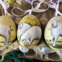 Eggshell Ornament Sheep