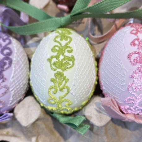 Eggshell Ornament Pastel Lace