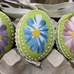 Eggshell Ornament Multi Daisies