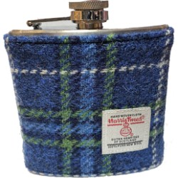 Tweed-Wrapped Flask - Blue and Green