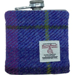 Tweed-Wrapped Flask - Purples