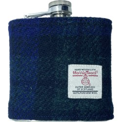 Tweed-Wrapped Flask - Black Watch