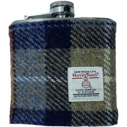 Tweed-Wrapped Flask - Blue and Beige