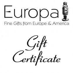 Europa Gift Certificate