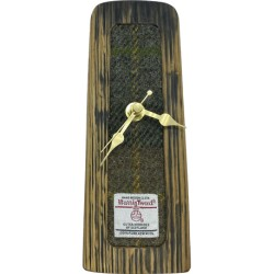 Whisky Barrel Tweed Clock - Grey and Green