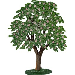 Tree with Pink Flowers Stand-up Pewter Decoration