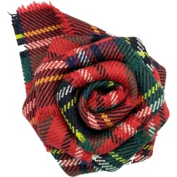 Tartan Rose Brooch in a Variety of Tartans