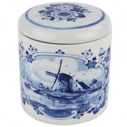 Delft Blueware Jar - Windmill