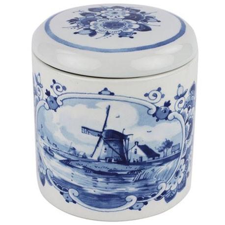 Delft Blueware Jar - Windmill