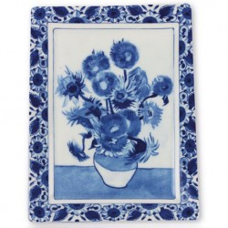 Delft Blueware Plate - Van Gogh Sunflowers