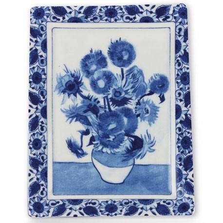Delft Blueware Plate - Van Gogh Sunflowers