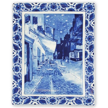 Delft Blueware Plate - Van Gogh Cafe Terrace