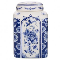 Delft Blueware Canister - Flowers