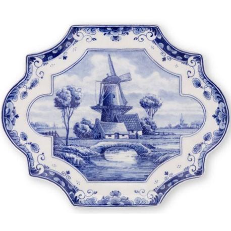 Delft Blueware Plate - Windmill
