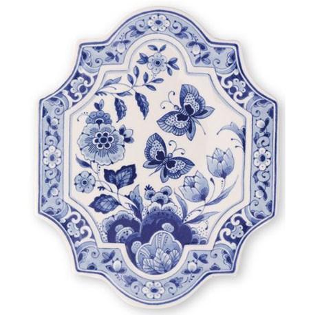 Delft Blueware Plate - Butterflies