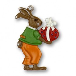 Bunny with Easter Egg Pewter Ornament