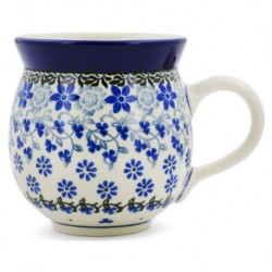 Bubble Mug - 12 oz - Blue Daisies