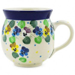 Bubble Mug - 12 oz - Colorful Pansies