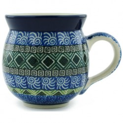 Bubble Mug - 12 oz - Aztec Blue and Green