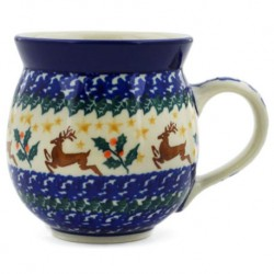 Bubble Mug - 12 oz - Reindeer Holly