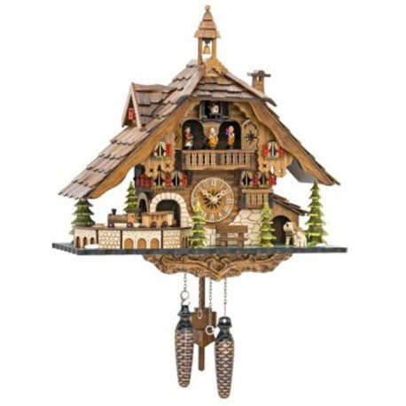 Engstler Chalet-Style Quartz Cuckoo Clock with Train